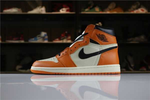 "New Air Jordan 1 Retro High OG ""Shattered Backboard Away"" Sail/Starfish-Black 555088-113"
