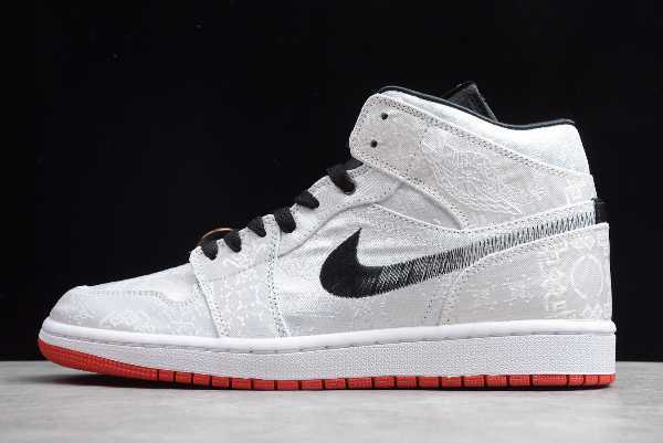 CU2804-100 Mens CLOT x Edison Chen Air Jordan 1 Mid Fearless For Sale