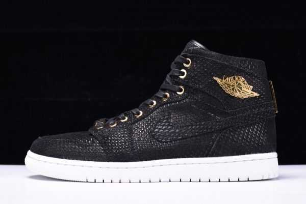 Nike Air Jordan 1 Retro High OG ' innacle' Black/Metallic Gold-White 705075-030