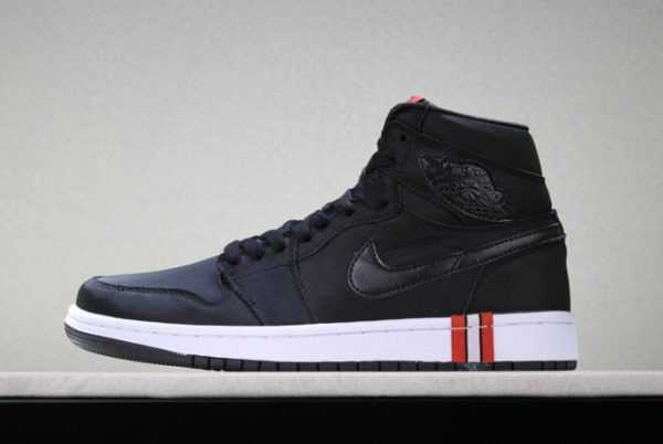 "2018 Men' s PSG x Air Jordan 1 Retro High ' aris Saint-Germain' ""Ties to PSG include striped red"