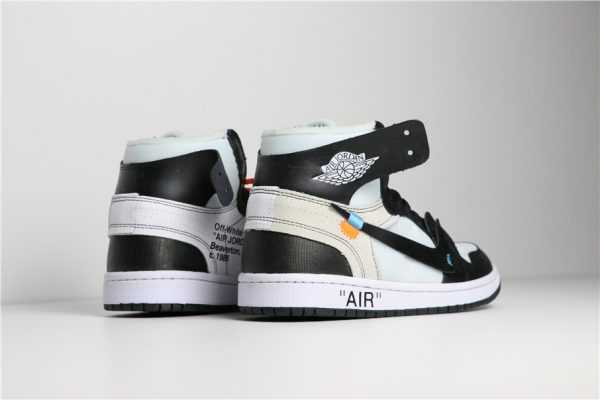 2018 Off-White x Nike Air Jordan 1 Black/White AA3834-102 For Sale