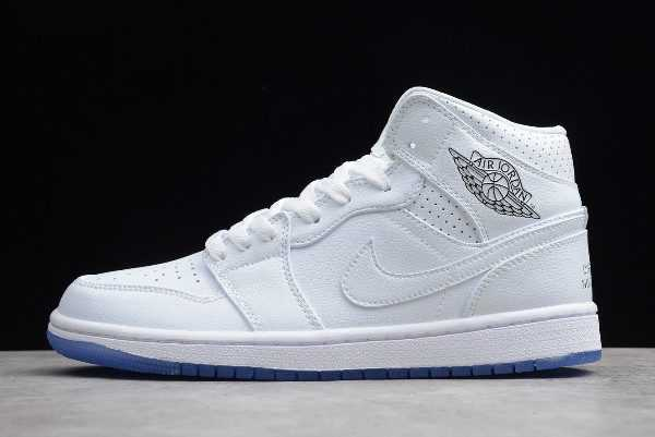 Air Jordan 1 Mid White/Pure Platinum For Sale
