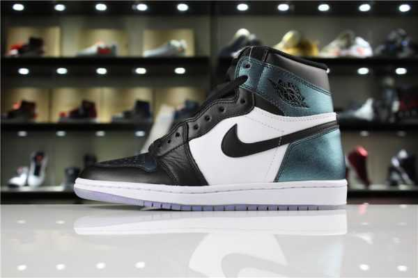 "Men' s Air Jordan 1 High OG ""All-Star"" Black/Metallic Silver-White 907958-015"