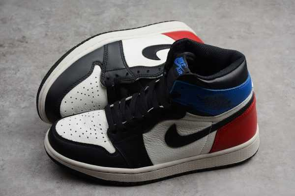 Men' s Air Jordan 1 Retro High OG Black/White-Campus Red Shoes