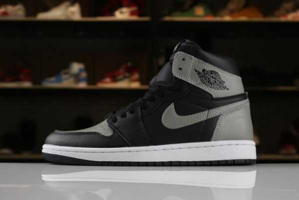 "Men' s Size Air Jordan 1 Retro High OG ""Shadow"" Black/Medium Grey-White 555088-013"