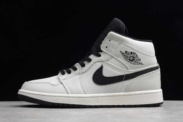 New Air Jordan 1 Mid SE ' anvas' Light Bone/Cone-Black-Sail 852542-002