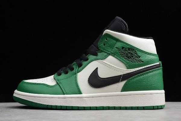 Air Jordan 1 Mid SE Pine Green/Sail-Black For Sale