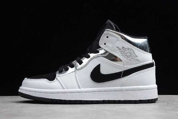 Buy Air Jordan 1 Mid ' lternate Think 16' White/Silver-Black 554724-121