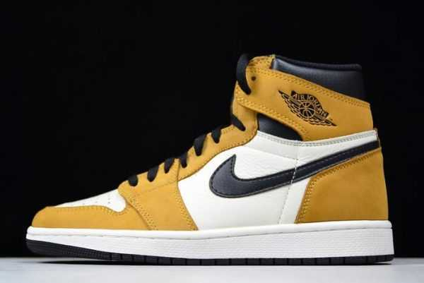 Air Jordan 1 Retro High OG ' ookie Of The Year' Gold Harvest/Black 555088-700
