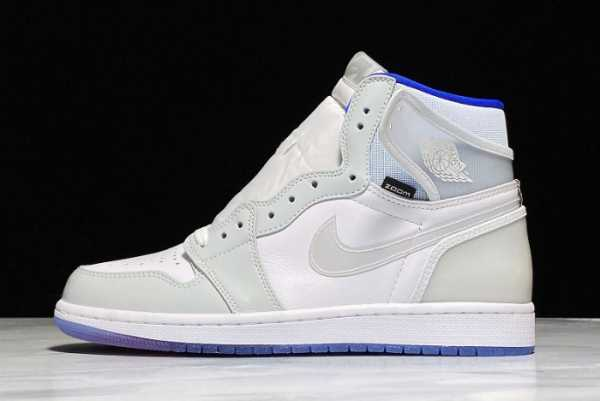 Cheap 2020 New Air Jordan 1 High Zoom R2T White/Racer Blue CK6637-104 For Sale