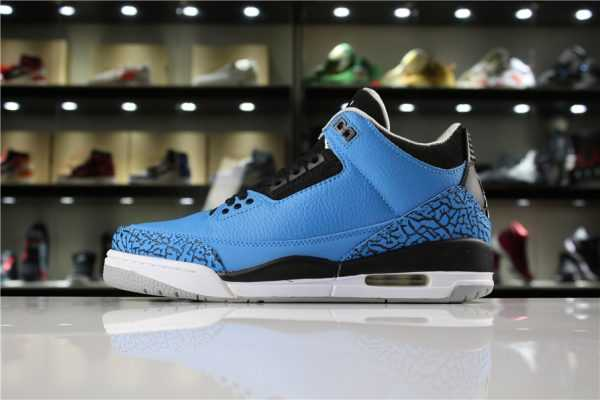 "New Air Jordan 3 Retro ""Powder Blue"" Dark Powder Blue/Black-Wolf Grey-White 136064-406"