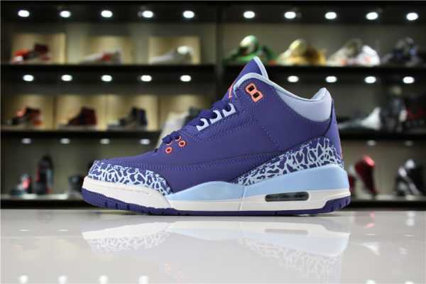 "Women' s Air Jordan 3 GS ""Purple Dust"" Dark Purple Dust/Atomic Pink-Blue Cap 441140-506"
