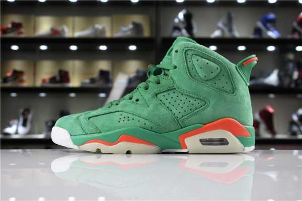 "Mens and Womens Air Jordan 6 ""Gatorade"" In Green Suede For Sale"