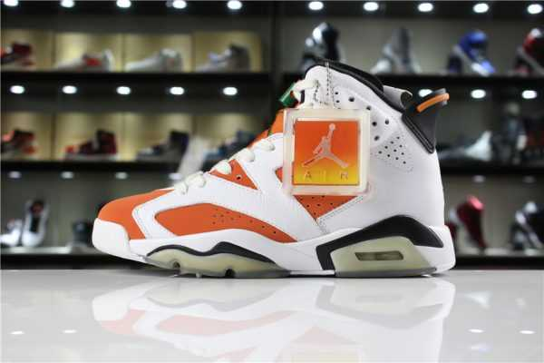 "New Air Jordan 6 ""Gatorade"" Summit White/Black-Team Orange For Sale"