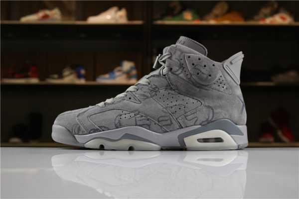 "KAWS x Air Jordan 6 ""DIY"" Personal Tailor Cool Grey For Sale"