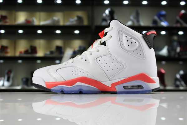 "Air Jordan 6 Retro ""White Infrared"" White/Infrared-Black 384664-123"