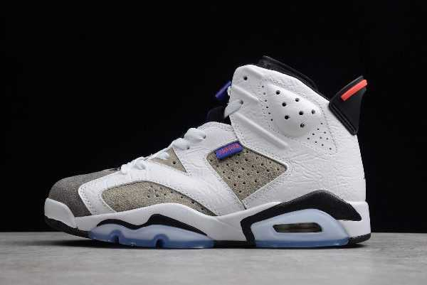 Air Jordan 6 LTR ' lint' White/Black-Infrared 23-Dark Concord CI3125-100