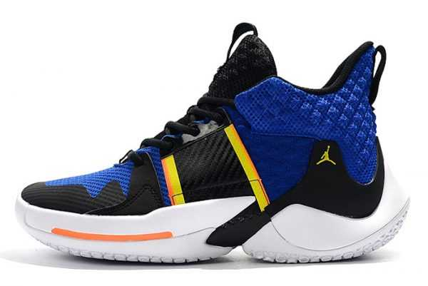 Jordan Why Not Zer0.2 Black/Royal Blue-White-Yellow Basketball Shoes